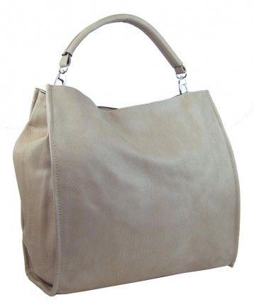 Velká taška na rameno New Berry 9010 meruňkově béžová - Kliknutím zobrazíte detail obrázku.
