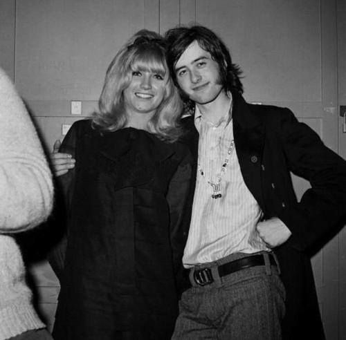 Jimmy Page and Marianne Faithfull