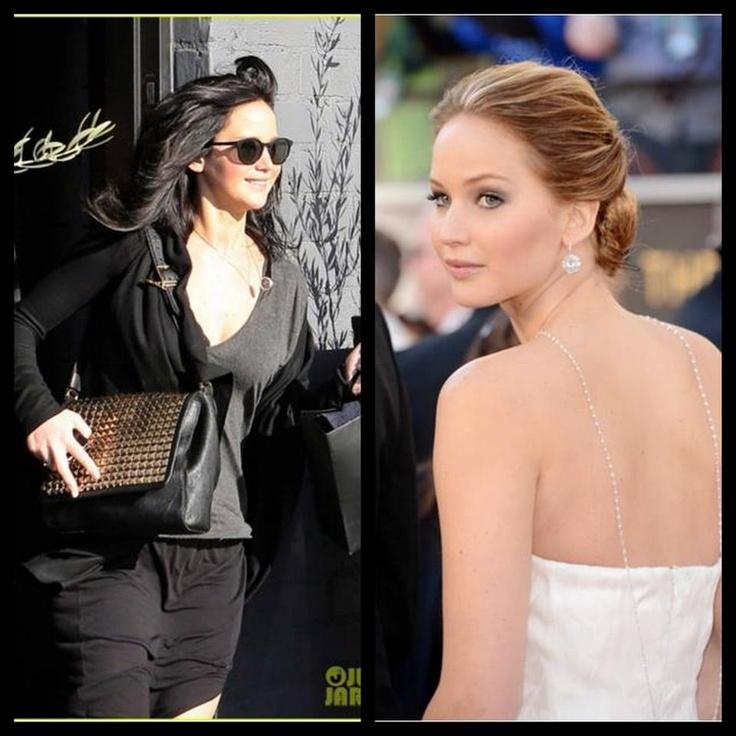 Sizce siyah tonlardan sarı tonlara keskin bir geçiş yapan Jennifer Lawrence'ın hangi saç rengi daha güzel? #hair #care #beauty #beautiful #hairstyle #fashion http://www.handehaluk.com