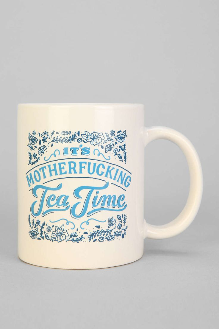 It's M$%^ F%^&0 Tea Time. The Perfect Mug for Samuel L. Jackson and all other potty mouth #tea drinkers you know.