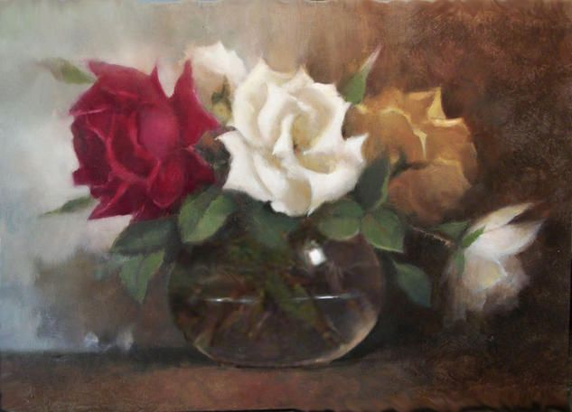 Purchase rosas - Painting by Carlos Puyet Salto from 43 EUR (2015/01/03) at Artelista.com, with free delivery & refund worldwide