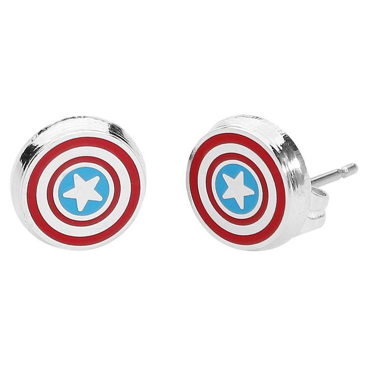 """Set di orecchini """"Logo"""" di #CaptainAmerica."""