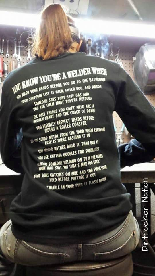 ade8f058 COOL WELDER Welder Career Shirts t Sweatshirt