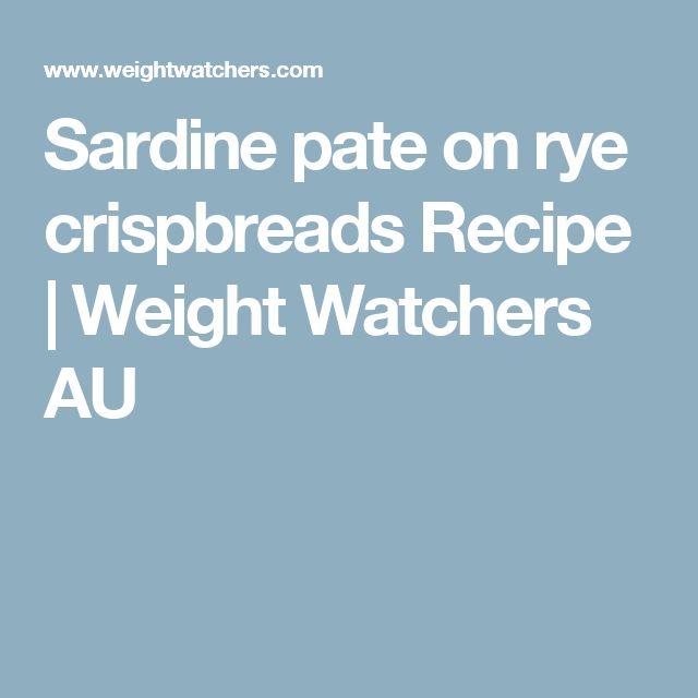 Sardine pate on rye crispbreads Recipe | Weight Watchers AU