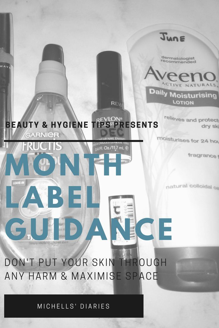 Beauty products - when to throw away, tips, month label guidance