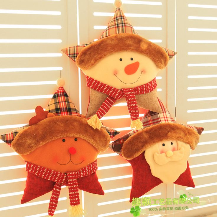 Новый пятиконечная Звезда Рождественские Украшения Подушки Дивана Подушку Ткань Рождественские Украшения Договоренности купить на AliExpress
