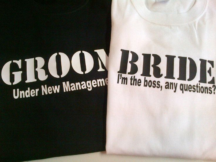 Bride and Groom Shirts Wedding Honeymoon T-Shirts Funny. $34.00, via Etsy. Lmao want these!!!