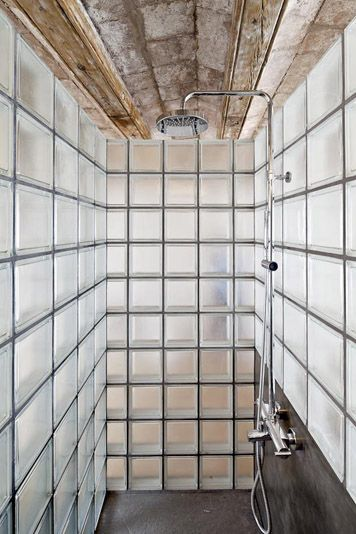 glass block shower bathroom by alex gasca hlne