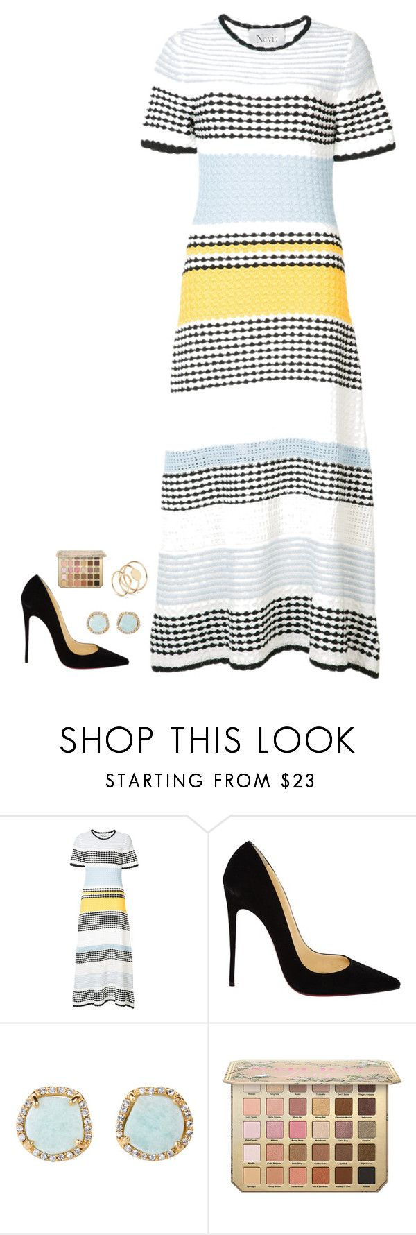 Untitled #1187 by h1234l on Polyvore featuring Novis, Christian Louboutin and Louise et Cie