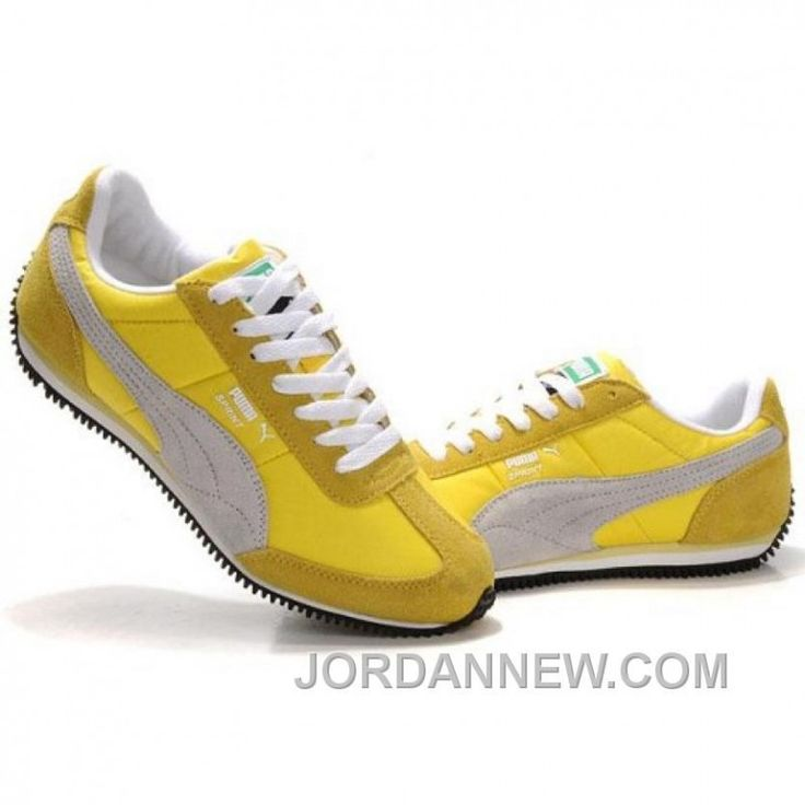 Men's Puma Usain Bolt Running Shoes Yellow Grey Free Shipping