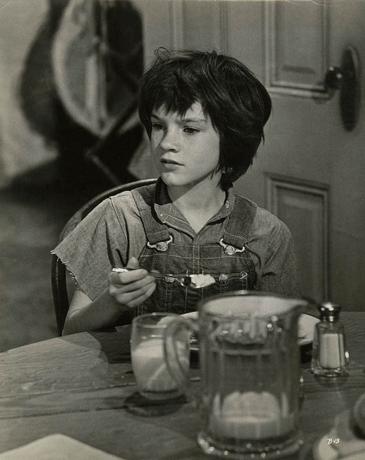Mary Badham in To Kill a mockingbird.