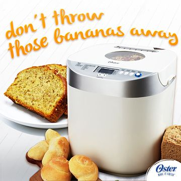 Don't throw those old bananas away! Instead, use them to make delicious banana bread for the whole family to enjoy. Be the breadwinner. #OsterKitchen #BreadMaker