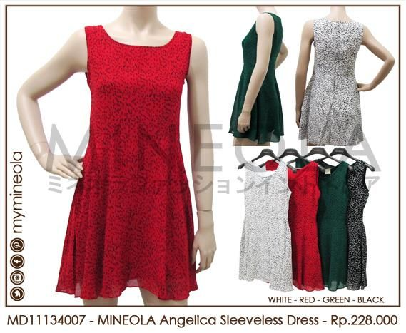 MINEOLA Angelica Sleeveless Dress Red. Rp.228.000,- Fabrics: Chiffon. Bust: 84cm - Length: 80cm - Waist: 76cm. Also available in white, green, and black color. Product code: MD11134007 #MINEOLA #myMINEOLA #iWearMINEOLA #Fashion #OnlineShop #Indonesia #Jakarta #Dress #Blouse #Top #Pants #Skirt