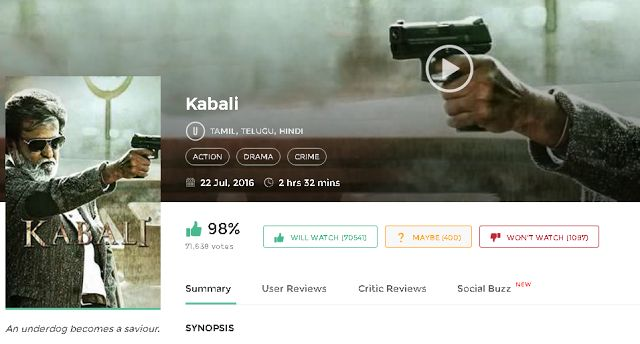 Kabali Full Movie Download