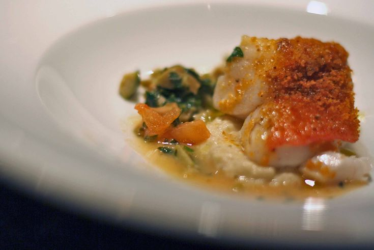Giorgio Locatelli's (Sea Bass with Tomato Crust and VernacciaWine)