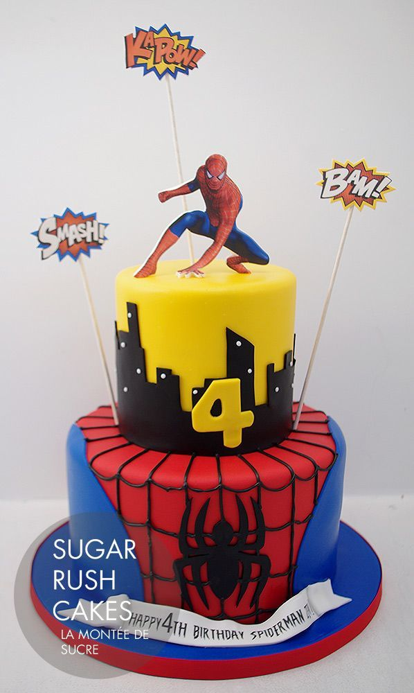 Výsledek obrázku pro spiderman cake