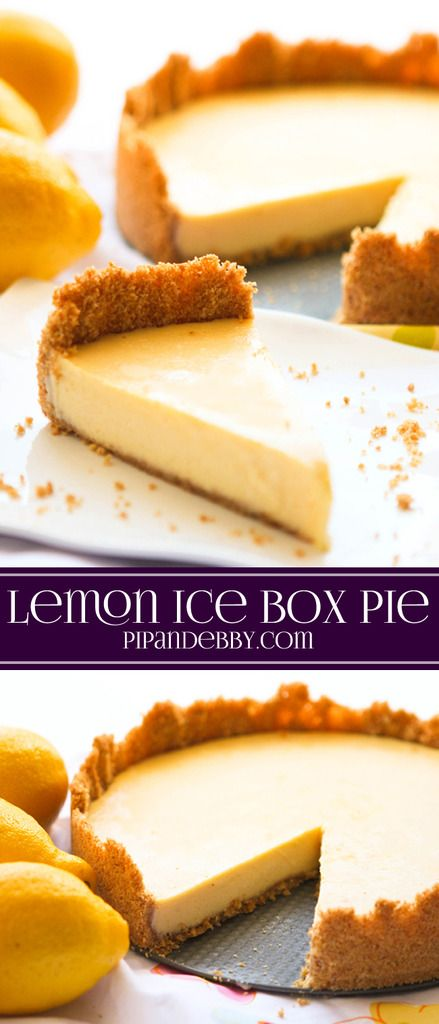 Lemon Ice Box Pie | Recipe | Mint chocolate, Am and I am