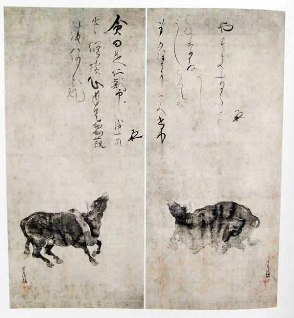 俵屋宗達『牛図』(頂妙寺蔵)