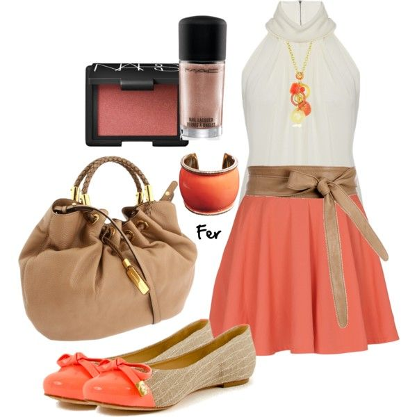 Coral Skirt Outfit - Be Stylish could I wear this to a wedding? Possibly put knee length white lace leggings under skirt?