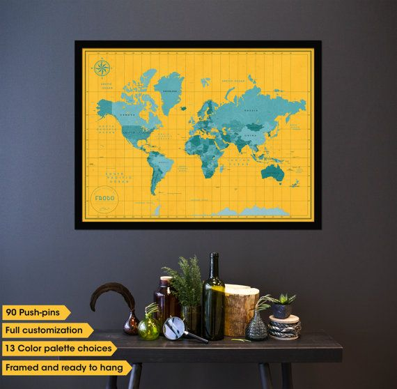 25  best ideas about map frame on pinterest
