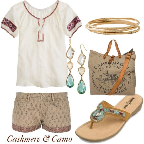 Shown here is the Bisbee sandal by Minnetonka :) Such a cute addition to this outfit!