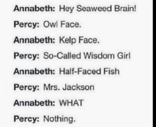 Percy and Annabeth =D