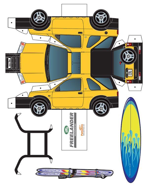 Land Rover Freelander Paper Model - Free Paper Toys and Models at PaperToys.com