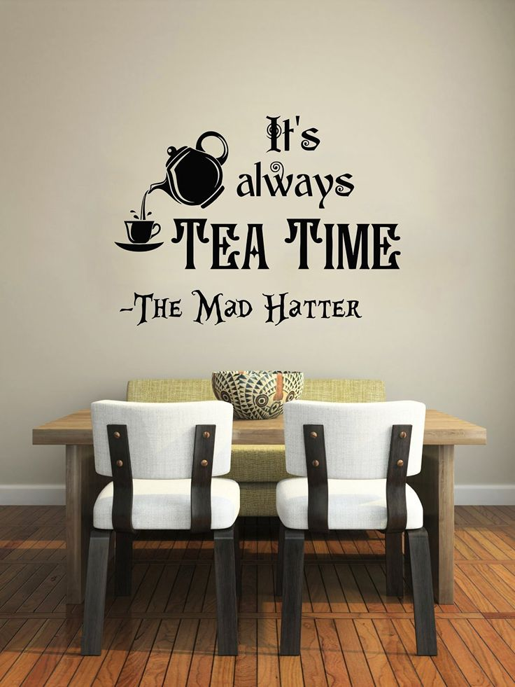 Alice in Wonderland Wall Decal Quote Vinyl Sticker Decals Quotes Itu0027s  Always Teau2026