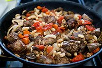 Quick Beef Stew with Mushrooms and White Beans | Recipe