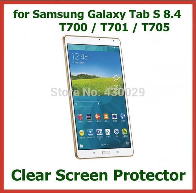 3шт ультра прозрачный экран протектор защитная пленка для Samsung Galaxy датчик цели и фона S 8.4 T700 T701 T705 нет пакет