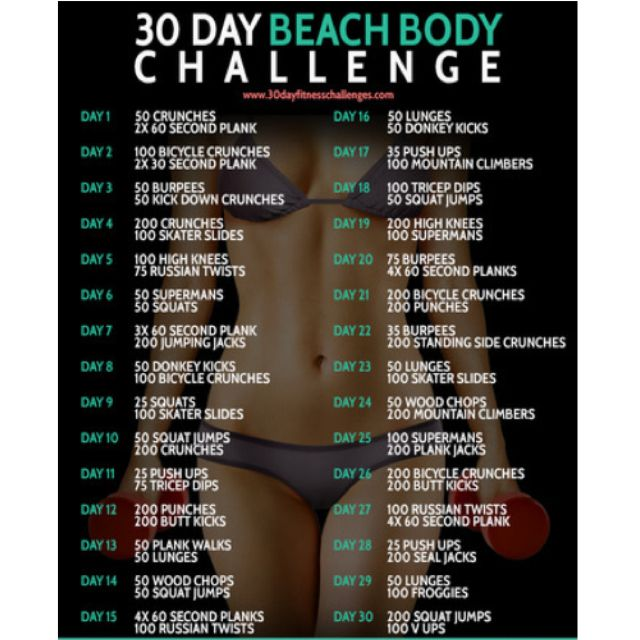 30 Day Beach Body Challenge