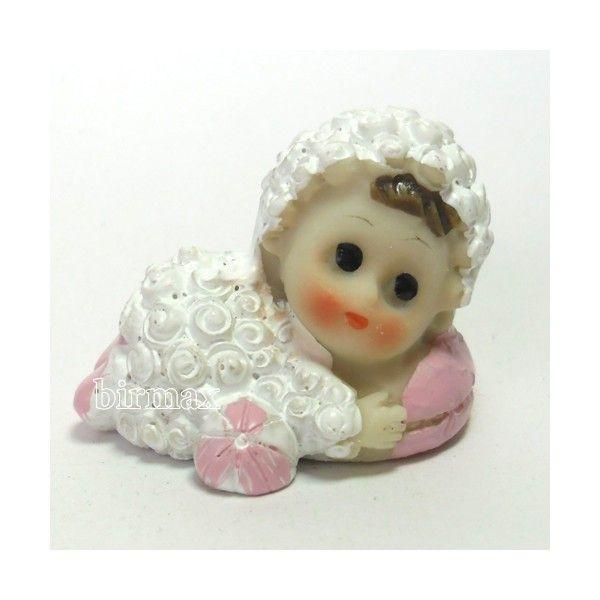 Kuzu kostümlü bebek pembe