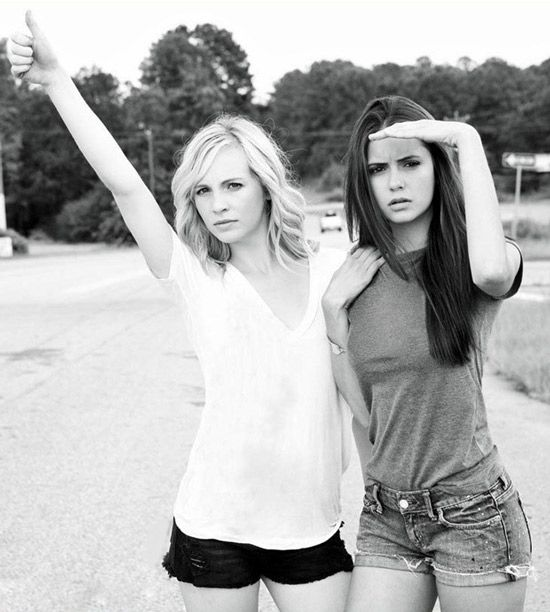 best friend poses | Nina Dobrev and Candice Accola: Friends On and Off the Set! (PHOTOS ...