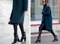 Nina @  www.helloshopping.de - Claudie Pierlot Coat, Oakwood Leather Pants, Isabel Marant Boots - #Fuck The Cold: Double Coating!