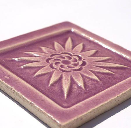Handmade Ceramic Decorative Tile - Mexico in Lily by DeKa Ceramic Tiles