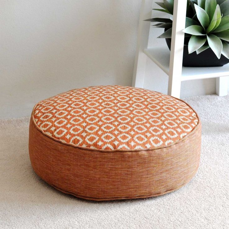 Ayana Tangerine Round Floor Cushion 45cm
