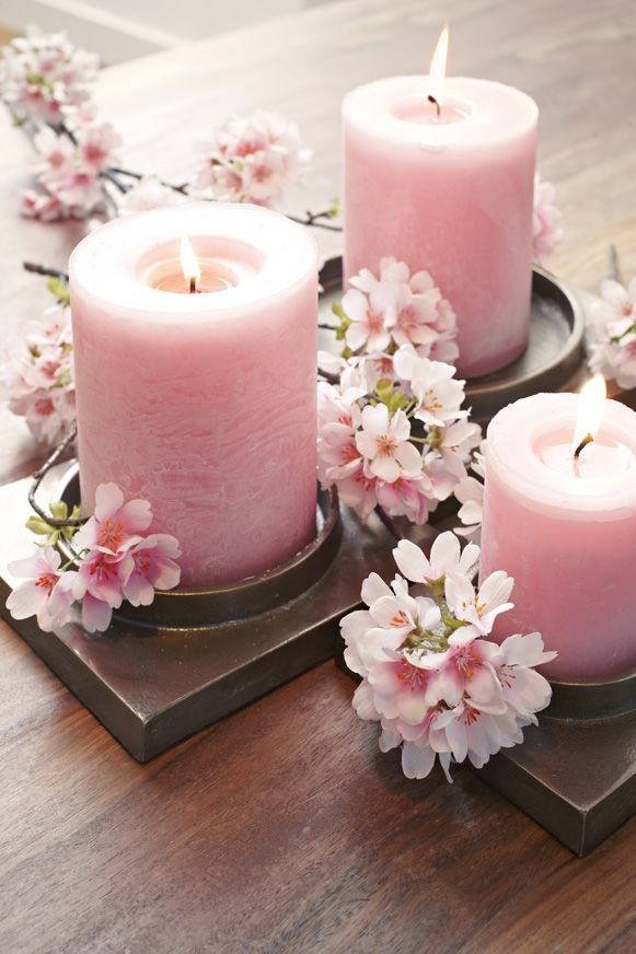 327 best bougies images on pinterest candles gifs and deko pink pillars and flowers sciox Images