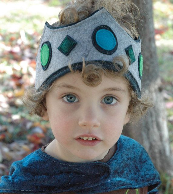Grey Knight Felt Crown by TheTreeHouseKid on Etsy, $20.00