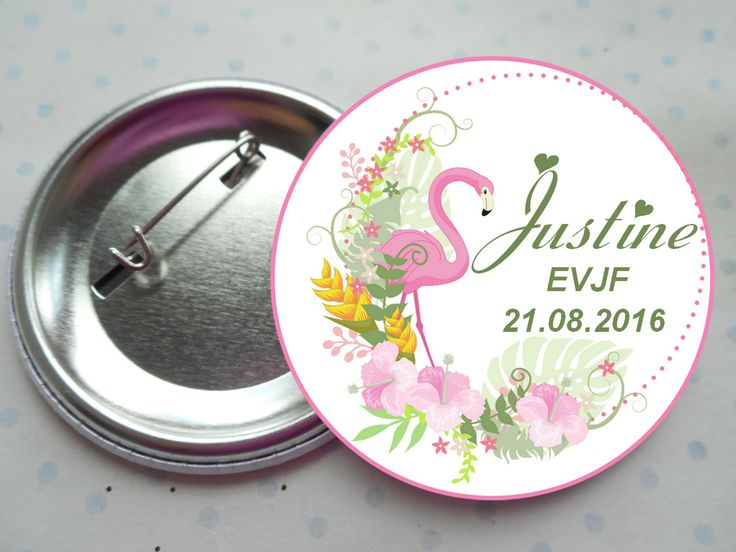 "Grand badge 56 mm collection ""le corset EVJF"" rose, blanc, pois, mariage PERSONNALISABLE : Pins, badges par miss-coopecoll"