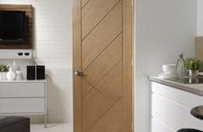 Diagonal style oak doors