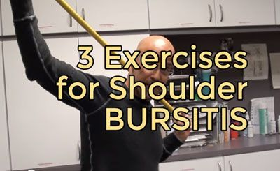 Simple exercises can help in recovering from shoulder bursitis.