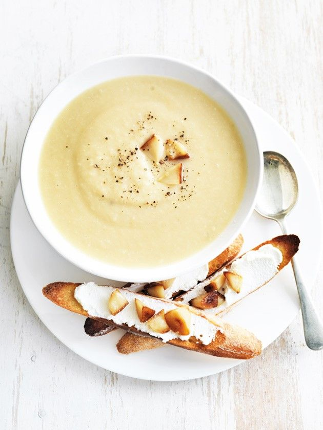 ... roasted parsnip and garlic soup ...
