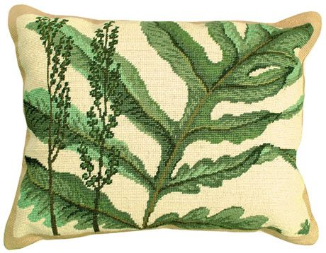 Fern Needlepoint Pillow