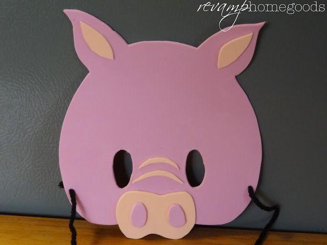 Revamp Homegoods: Kids Crafts: Foam Animal Pig Masks