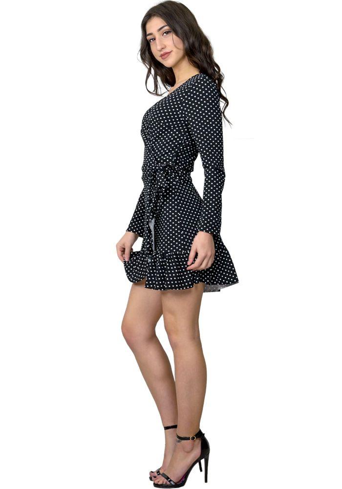d9c341a48a20 Φόρεμα mini πουά