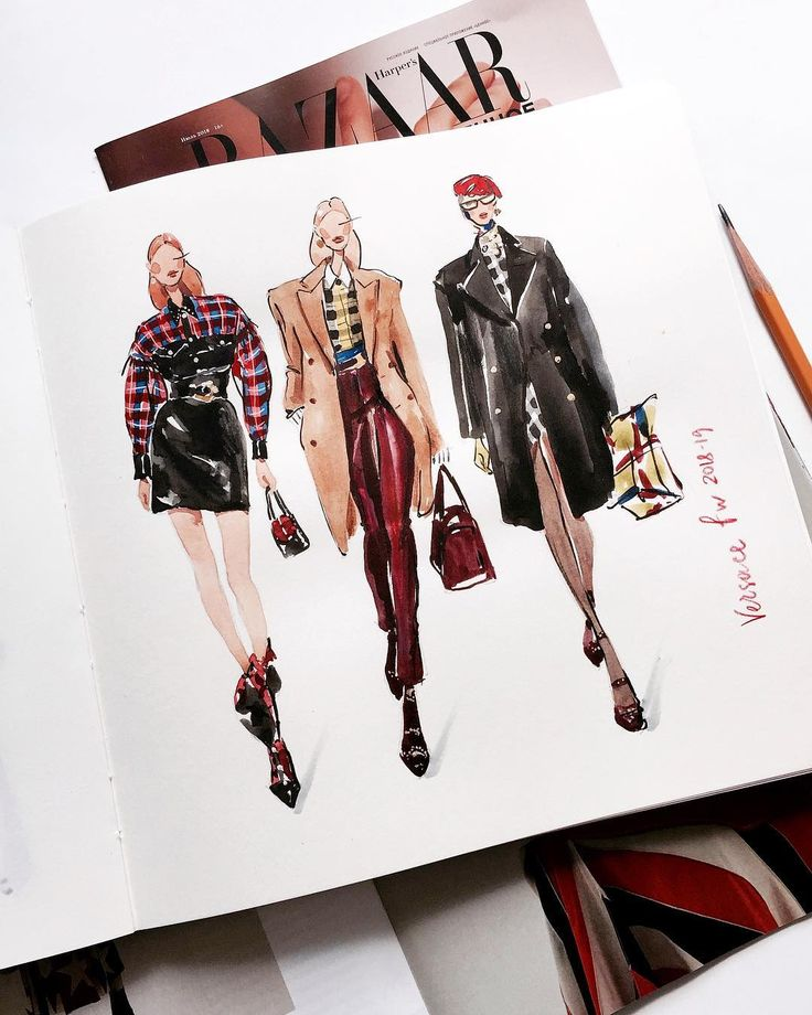 ▪️ watercolor #draw #versace #versacecollection #marinasidneva_art #marinasidneva #art #artist #illustration…