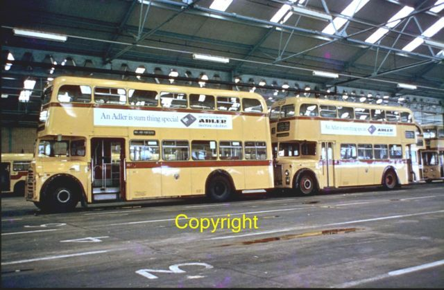 Classic Colour Bus Slide - Bournemouth Corp Leyland Titan PD3 164 ( 6164 RU ) | eBay