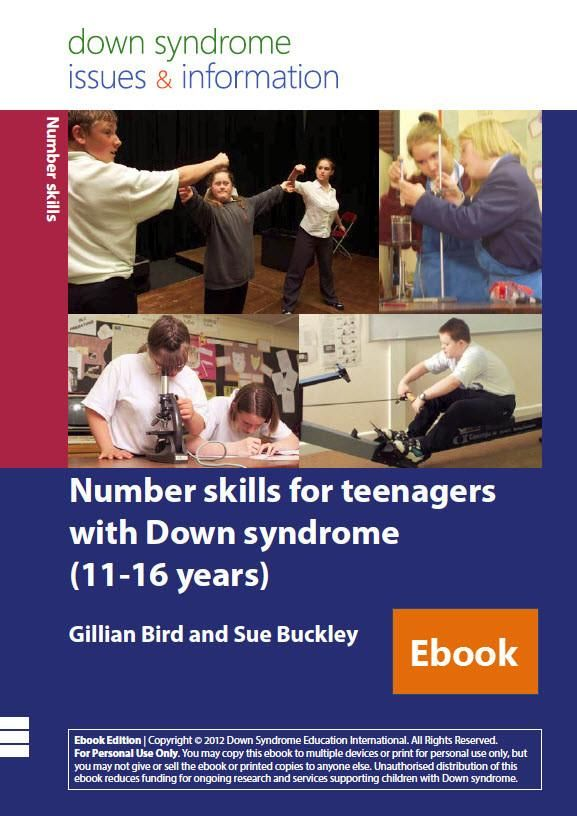 Number Skills for Teenagers with Down Syndrome (11-16 years) - PDF Ebook
