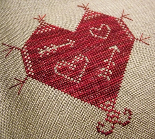 Best cross stitch valentines images on pinterest