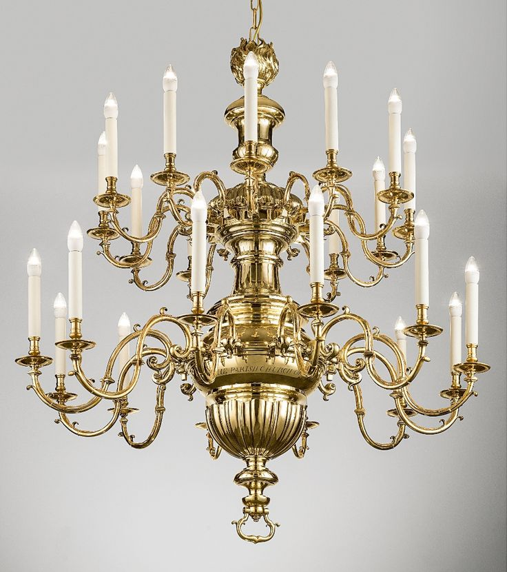 The 'After' shot of the Antigua chandelier